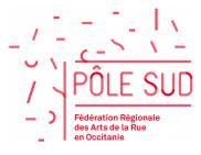 logo de Pôle Sud, fédération régionale des arts de la Rue en Occitanie