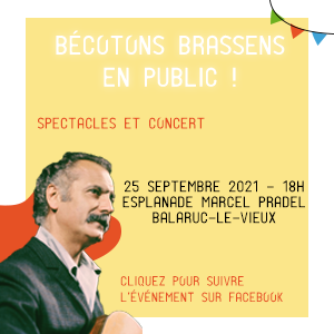 événement Bécotons Brassens en public le 25 septembre